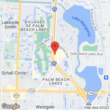 Map of Bed Bath & Beyond at 1875 Palm Beach Lakes Boulevard, West Palm Beach, FL 33401
