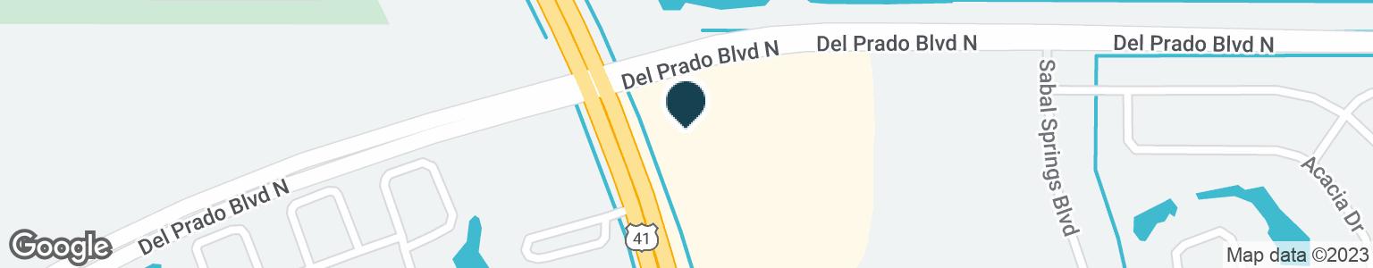 Google Map of17970 N TAMIAMI TRL