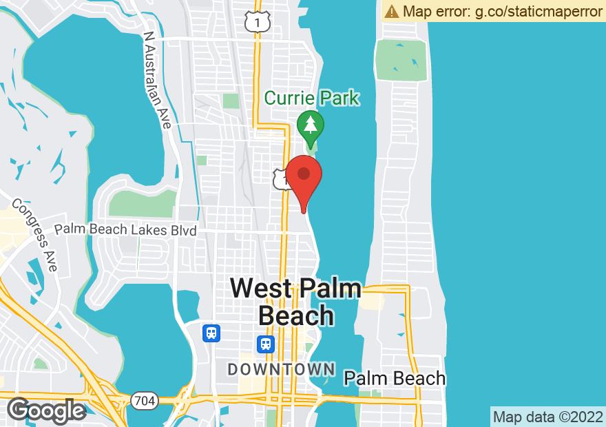 Google Map of 1515 N FLAGLER AVE