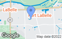 Map of LaBelle, FL