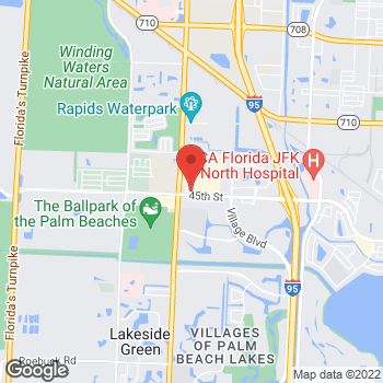 Map of Taco Bell at 4385 45th St, West Palm Beach, FL 33407