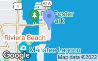 Map of Palm Beach Shores, FL