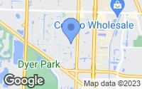 Map of Riviera Beach, FL