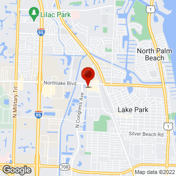 Map of Staples® Print & Marketing Services at 1260 Northlake Blvd, Lake Park, FL 33403