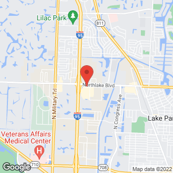 Map of Arby's at 3802 Northlake Blvd, Palm Beach Gardens, FL 33410