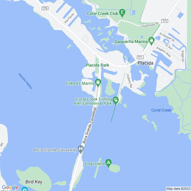 Map of Toll Road | Gasparilla Bridge (Boca Grande Swing Bridge)