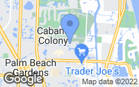 Map of Palm Beach Gardens, FL