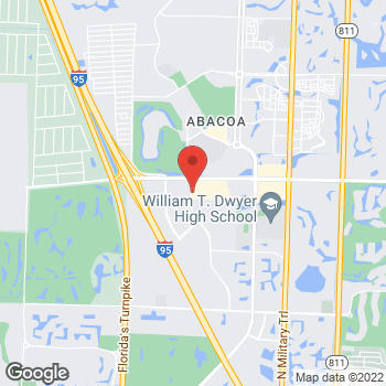 Map of Hair Cuttery - Closed at 5420 Donald Ross Road Unit 115, Palm Beach Gardens, FL 33418