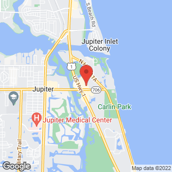 Map of Staples at 201 North US 1, Jupiter, FL 33477