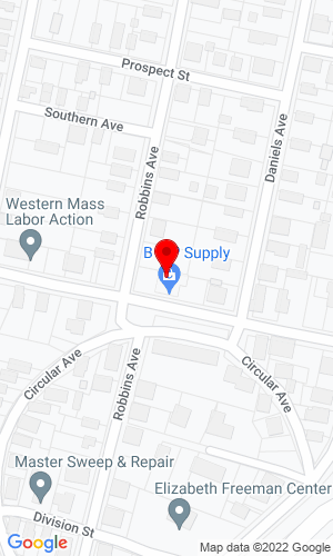 Google Map of B & P Auto Body Supply 260 Columbus Avenue, Pittsfield, MA, 01201