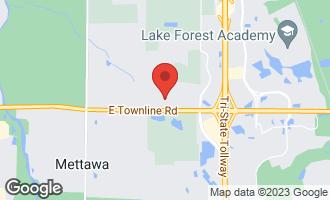 Map of 26067 North Farwell Road METTAWA, IL 60045