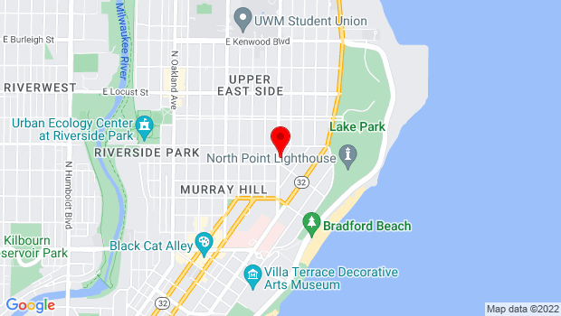 Google Map of 2608 N Downer Avenue, Milwaukee, WI 53211