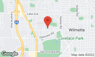 Map of 2609 Greenleaf Avenue WILMETTE, IL 60091