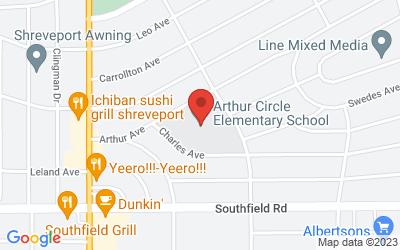 Map of 261 Arthur Avenue, Shreveport, LA, USA