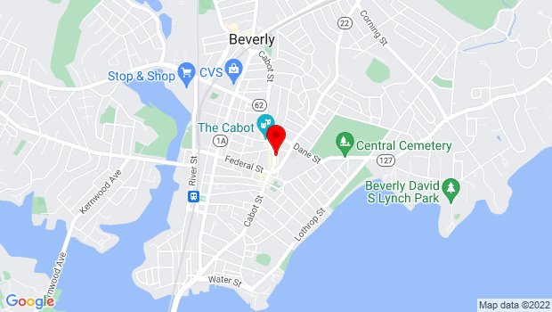 Google Map of 261 Cabot Street, Beverly, MA 01915