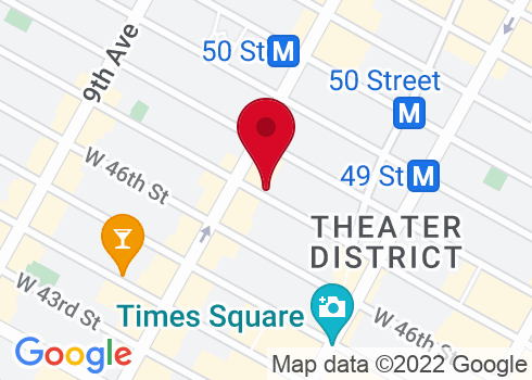 Samuel J. Friedman Theatre Google Maps Location