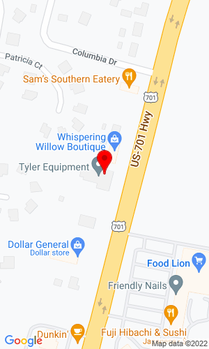 Google Map of Tyler Equipment Co., Inc. 2613 Main Street, Conway, SC, 29526