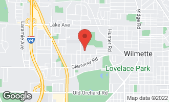 Map of 2621 Greenleaf Avenue WILMETTE, IL 60091