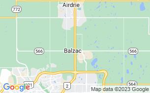 Map of Balzac Campground RV Park & Storage