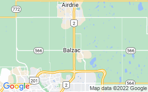 Map of Balzac Campground RV Park & Storage