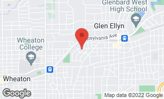 Map of 263 Hillside Avenue GLEN ELLYN, IL 60137