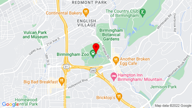 Google Map of 2630 Cahaba Road, Birmingham, AL 35223