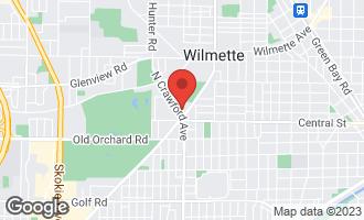 Map of 2635 Crawford Avenue EVANSTON, IL 60201