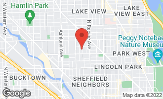 Map of 2636 North Lakewood Avenue CHICAGO, IL 60614