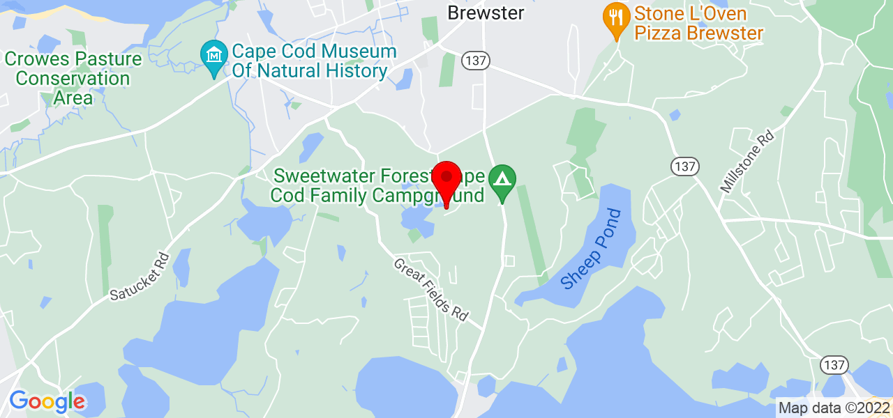 Google Map of 264 Griffiths Pond Rd Brewster MA