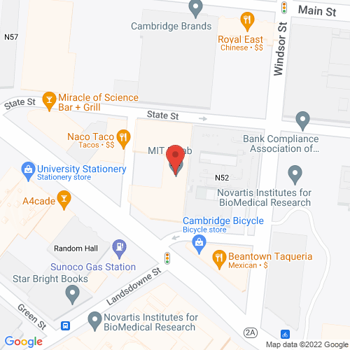 Map of the area around MIT Museum