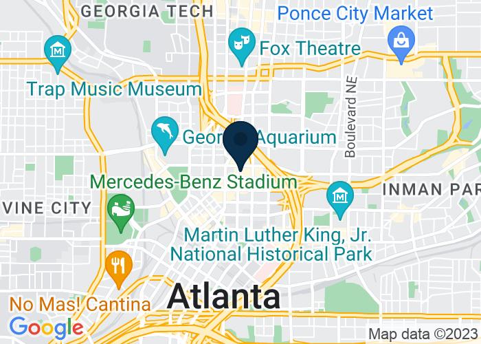 Map of 265 Peachtree Center Avenue, Atlanta, GA 30303, United States