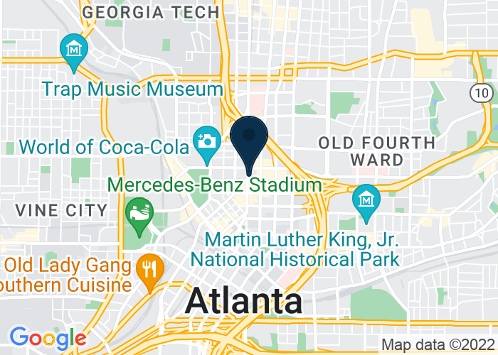 Map of 265 Peachtree Street NE, Atlanta, GA 30303, United States