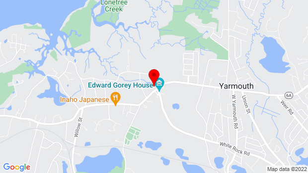 Google Map of 266 Main St. Rte 6A, Yarmouth Port, MA 02675