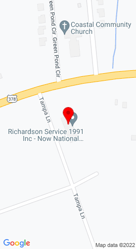 Google Map of Richardson Service 1991 Inc. 2667 US-378, Conway, SC, 29527