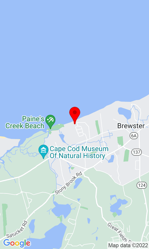 Google Map of 267 Robbins Hill Road Brewster MA