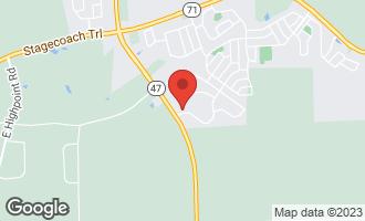 Map of 2691 Fairfax Way Yorkville, IL 60560