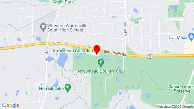 Google Map of 26W151 Butterfield Road, Wheaton, IL 60189