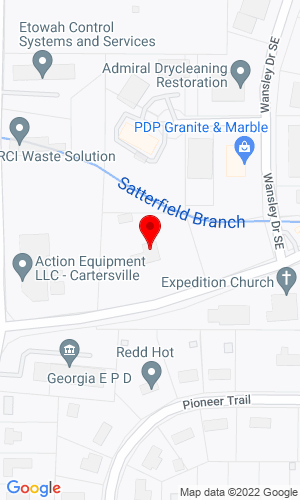 Google Map of Action Rent All 27 Center Road, Cartersville, GA, 30120