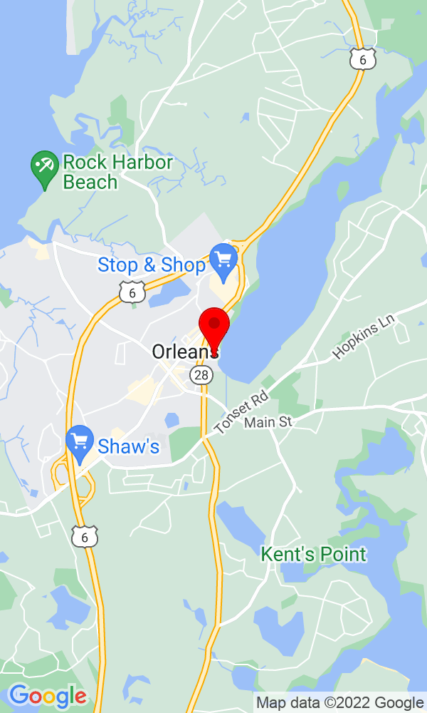 Google Map of 27 South Orleans Road Orleans MA