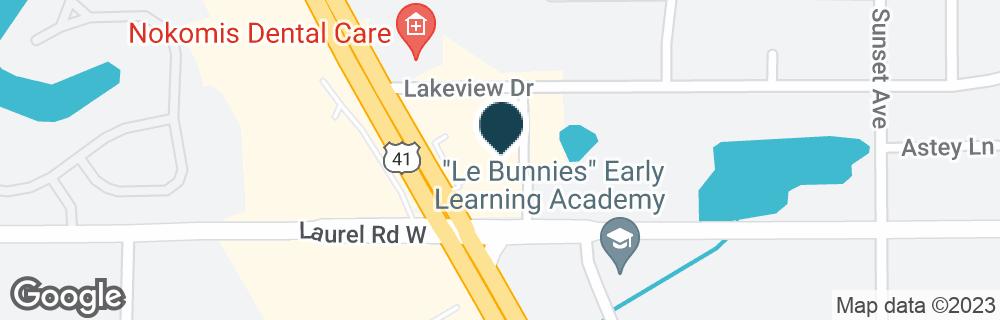 Google Map of1120 TAMIAMI TRL N