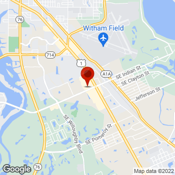 Map of Staples® Print & Marketing Services at 3100 SE Federal Highway, Stuart, FL 34994