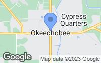 Map of Okeechobee, FL