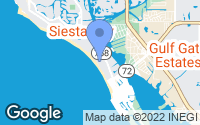 Map of Siesta Key, FL