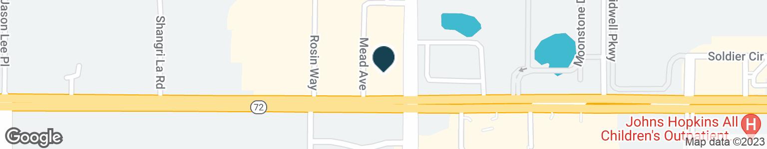 Google Map of5281 CLARK RD