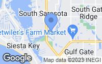 Map of Sarasota, FL