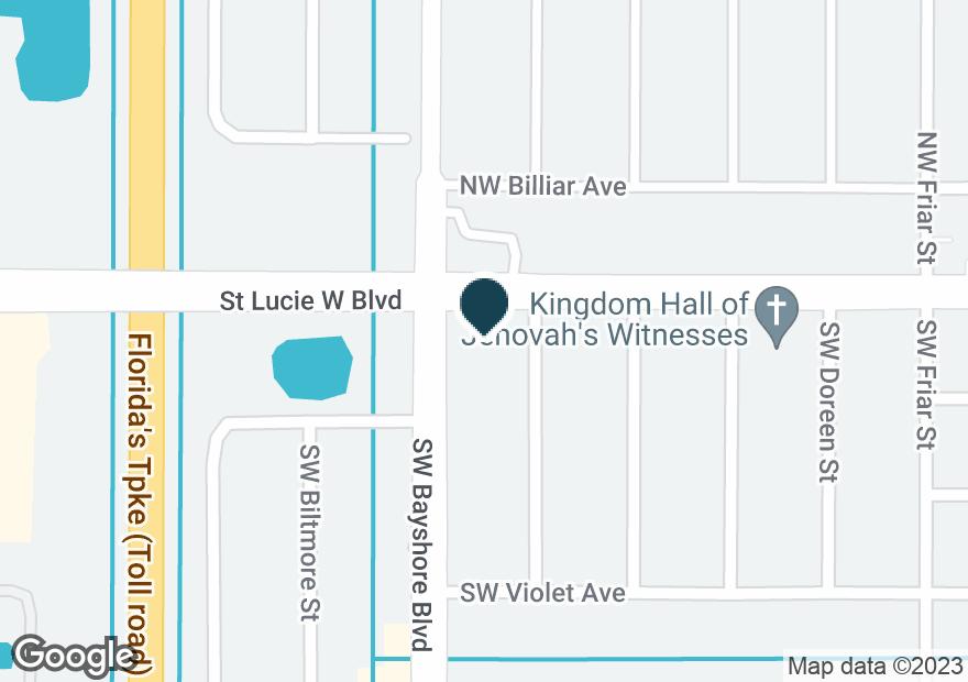 Google Map of692 SW PRIMA VISTA BLVD
