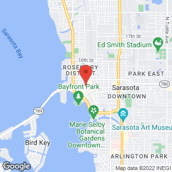 Map of Fifth Third Mortgage - Nakia Stefanini at 50 Central Avenue, Sarasota, FL 34236