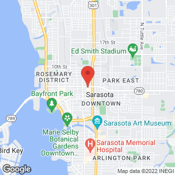 Map of Staples at 1900 Fruitville Road, Sarasota, FL 34236