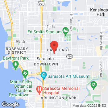 Map of Check `n Go Lime Ave. at 220 N Lime Ave., Sarasota, FL 34237