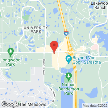 Map of Hair Cuttery at 93 North Cattlemen Road, Sarasota, FL 34243